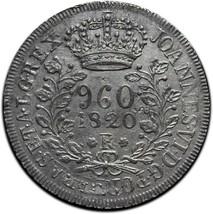 1820R BRAZIL REIS 960 Silver Coin Lot# A 541