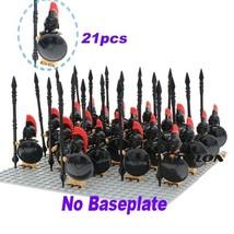 21 PCS/Set BLACK SPARTAN ARMY Military Minifigure Building Blocks Toys K... - $27.45