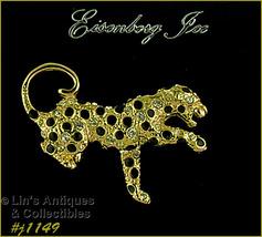 Eisenberg Ice Leopard Pin Gold Tone (#J1149) - $48.00