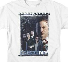 CSI NY T-shirt Free Shipping TV crime show 100% cotton graphic white tee CBS1044 image 2