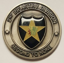 "US Army 2nd Infantry Division ""Second To None"" Recruiter Coin ""Stay Army""  2"" - $29.69"