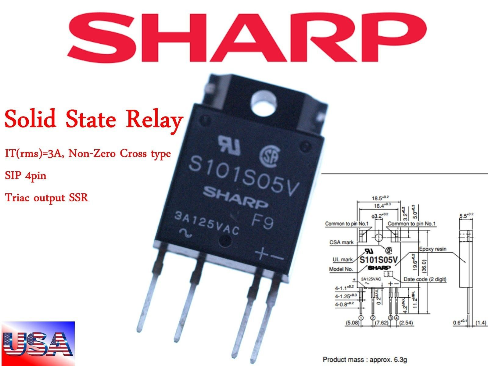 s l1600 s l1600 sharp s101s05v solid state relay