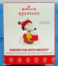 2017 Hallmark Keepsake Miniature Christmas Ornament Winter Fun With Snoo... - $13.90