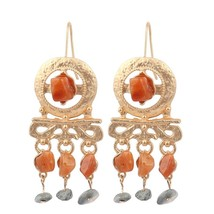 ZA Bohemian Simulated-Pearl Drop Earrings for women's Trendy Gold Color ... - $8.09