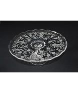 Viking/New Martinsville Glass Prelude Pedestal Cake Stand/Salver #5226 - $14.85