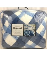 Charter Club Painted Plaid Blue White Full Queen Comforter Set Blue $200 - $31.63