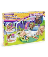 Pool Belly with Effect Hot Tub And Shower Works With Water 1 Doll And Baby - $234.59