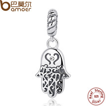 925 Sterling Silver Lucky Hamsa Hand Pendants Charm fit Bracelet & - $22.99