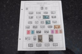 F81 Lot of Lebanon Liban stamps 1924-1965 hinged 9 Minkus Album Pages - $11.63