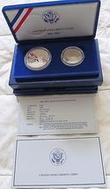 1986 UNITED STATES LIBERTY PROOF SILVER AND HALF-DOLLAR 2 COIN PROOF SET image 4