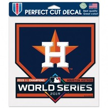 """Houston Astros 2019 American League Champions Decal 8"""" x 8"""" - $8.95"""