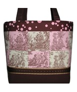 Pink Brown Girls Diaper Bag, Extra Large Pink Brown Diaper Bag With Chan... - $185.00