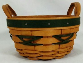 Longaberger 1999 Peppermint Basket & Tie-On Tree-Trimming with Protector - $19.79