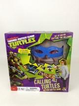 Teenage Mutant Ninja Turtles Calling All Turtles Board Game Battle Sealed 4 Mask - $20.44