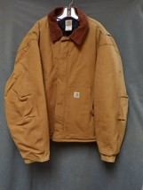 Carhartt Quilt Lined Work Jacket J02 Brown RN 14806 Tan Men's Size 54 Re... - $26.99