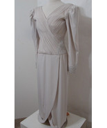 ROSE TAFT Couture Gown Vintage MOB Champagne Rhinestone Pearl Trim NWOT S - £273.67 GBP