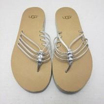 Ugg Australia Heina Women's Metallic Silver Slip-On Backless Slide Sanda... - $24.88