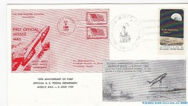 FIRST MISSILE MAIL 10th ANNIVERSARY JACKSONVILL, FL JUN 8 1969 #26/219 R... - $2.98