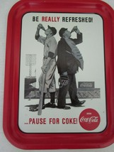 Coca Cola Metal Tray Coke 1992 Issue Baseball Be Really Refreshed - $16.95