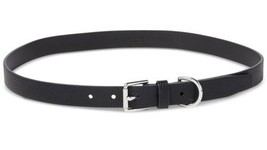 Ralph Lauren Classics Casual Roller Buckle Pebbled Skinny Belt, Black - $23.00