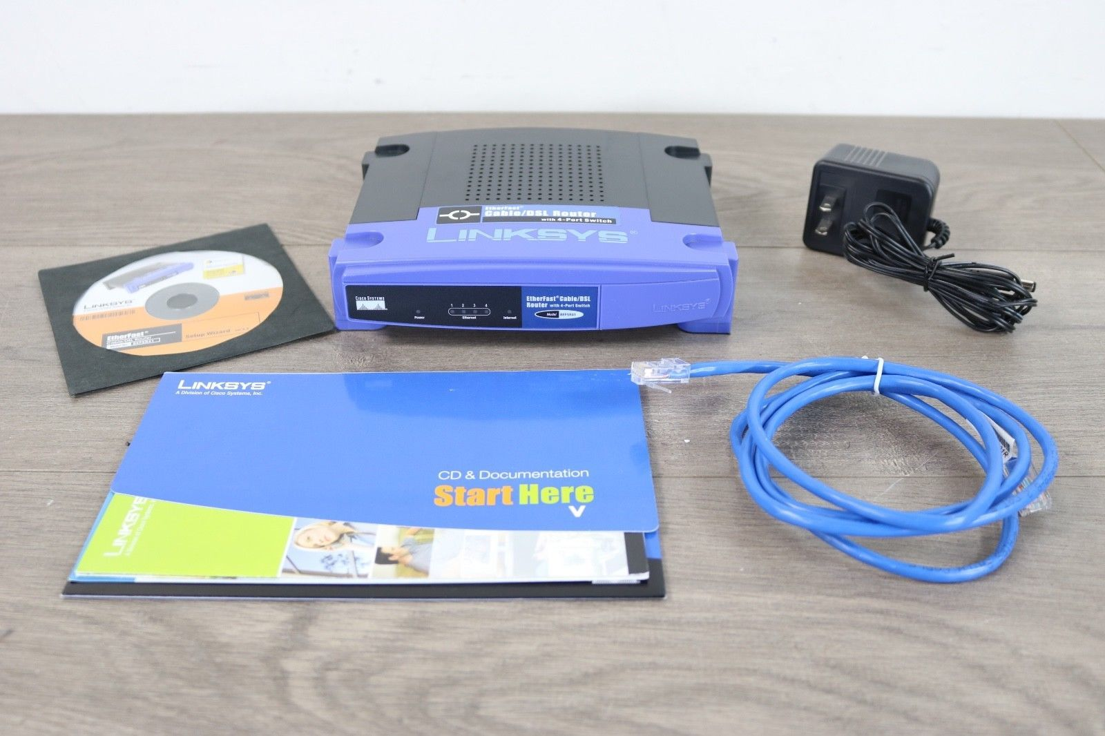 Linksys Etherfast Cable Dsl Router With 4 Port Switch Model Befsr41