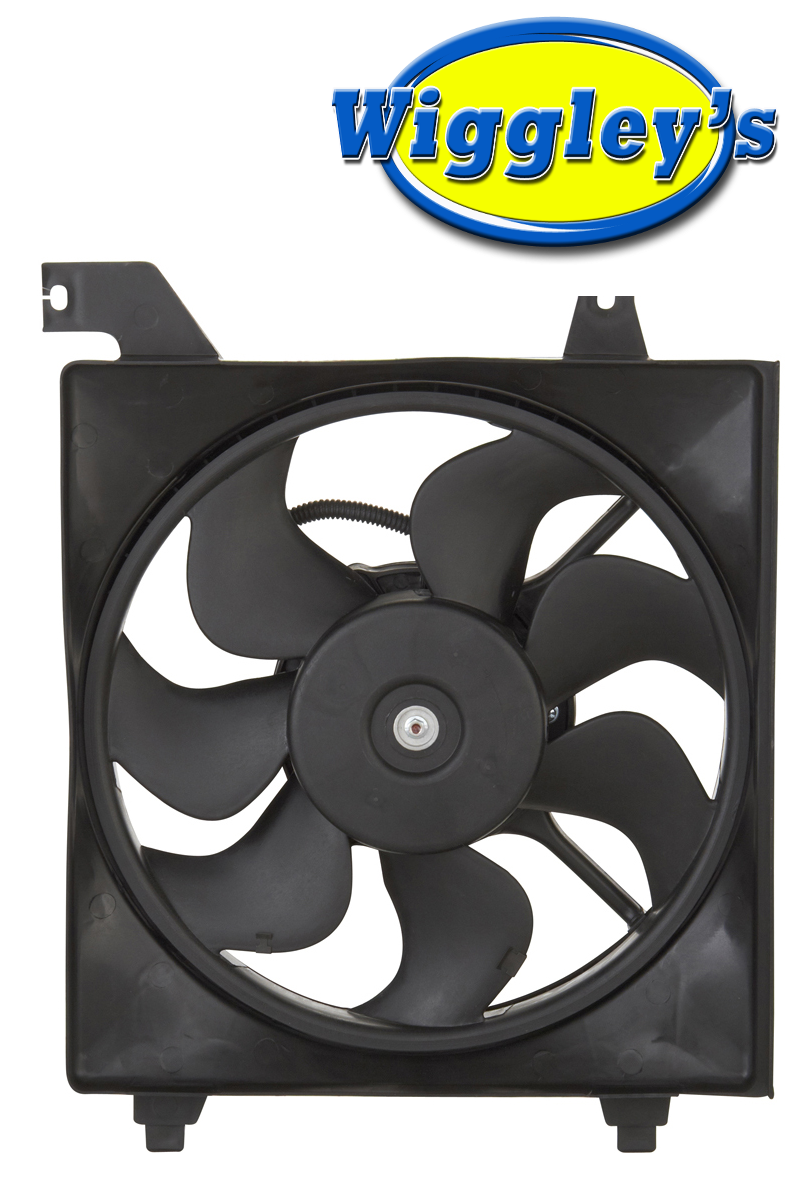 RADIATOR FAN ASSEMBLY HY3115122 FOR 06 07 08 09 10 11 HYUNDAI ACCENT DRIVER SIDE