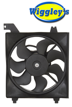 RADIATOR FAN ASSEMBLY HY3115122 FOR 06 07 08 09 10 11 HYUNDAI ACCENT DRIVER SIDE image 1