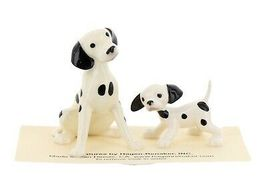 Hagen Renaker Dog Dalmatian Papa and Puppy Ceramic Figurine Set image 4