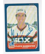 FLOYD BANNISTER AUTOGRAPHED CARD 1986 FLEER CHICAGO WHITE SOX - $4.48
