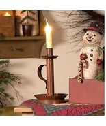 Candlestick new Electric Accent light in Distressed Rusty Tin - $38.00