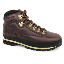 Timberland Men's Classic Euro Hiker Burgundy Leather Boots 6603A Size 7 - $109.99