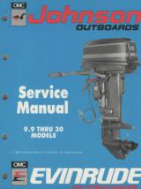 1990 johnson outboard 9.9 hp 30hp models service shop repair manual p/n - $39.55