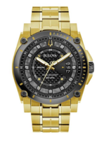 Bulova 98D156 Men's Precisionist Gold Tone Stainless Steel (FEDEX 2 DAY ... - $490.05