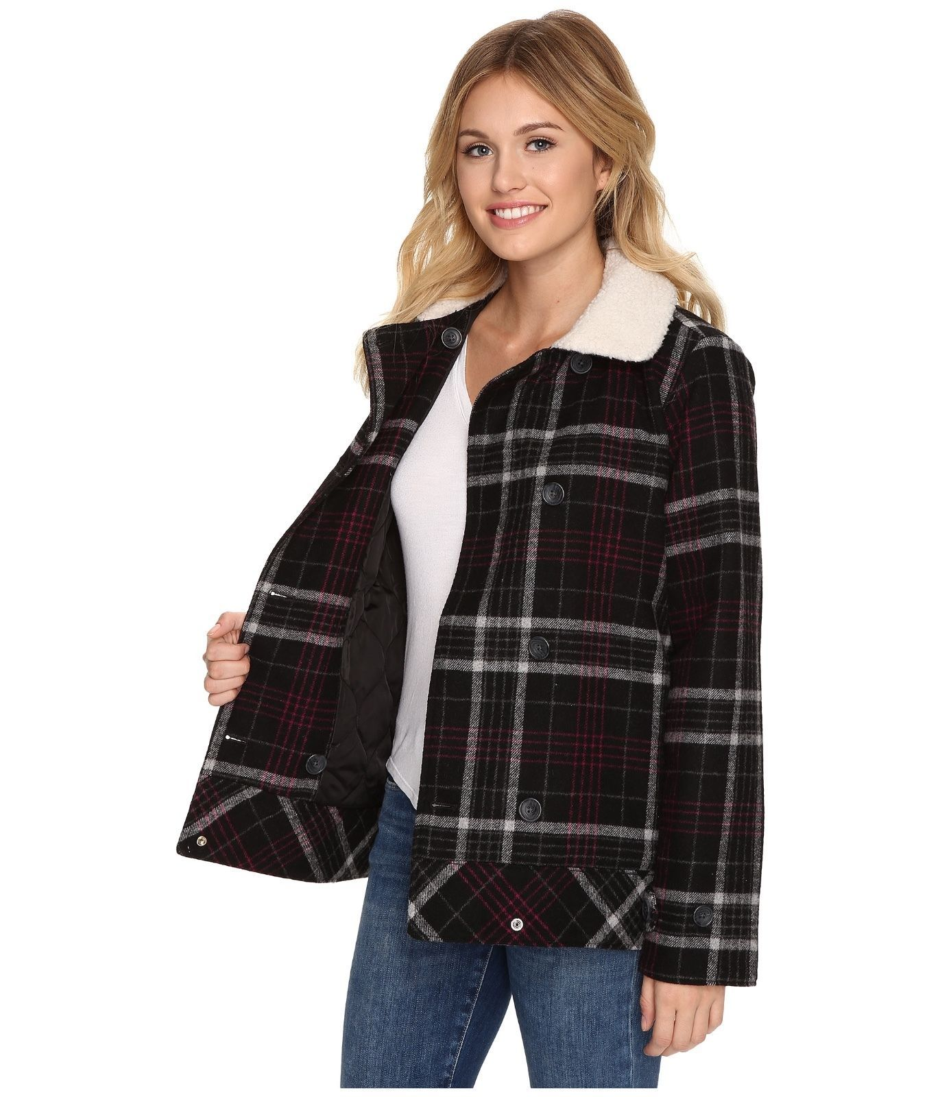 Primary image for New Vans Womens Spirit Animal Double Breasted Wool Blend Casual Jacket XS $130