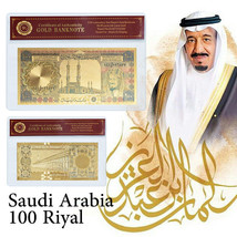 WR Saudi Arabia 100 Riyals Colorized Gold Banknote Middle East Gifts In ... - $3.88