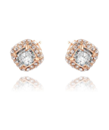 Vacation luxury Earrings rose gold plated CZ Jewelry - $9.99