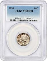 1936 10c PCGS MS65 FB - Mercury Dime - $87.30
