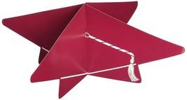3-D 10.5-inch Maroon Color Paper Grad Cap Cutout Centerpiece - $3.95