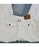 Dolce Gabanna White Cargo Pants Vintage 90s Button Closure Pockets Italy... - $207.90