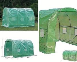 3 X 2m Greenhouse Garden Polytunnel Plastic  Dome Plant Care Metal Steel... - $139.74