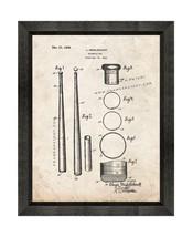 Baseball Bat Patent Print Old Look with Beveled Wood Frame - $24.95+