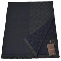 NEW Gucci 344994 Wool Ombre Blue Green GG Guccissima Scarf Muffler - $239.66