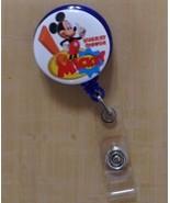 Mickey Mouse Clip badge reel key card ID holder lanyard retractable scru... - $8.75