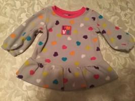 Girls-Size 0-3 mo.-Child of Mine dress-multicolor heart dress - $9.95