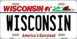 "NCAA Wisconsin Badgers License Plate State Background Metal Tag  U.S.A.""  Decor - $11.63"