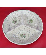 Vintage Japan Handpainted server Portion Plate ceramic Art Nouveau Roses... - $20.00