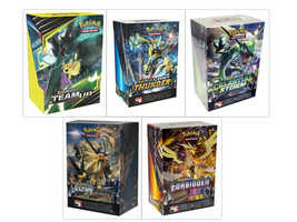 Pokemon TCG Sun & Moon Prerelease Kit Collection 5 Build & Battle Boxes ... - $109.99