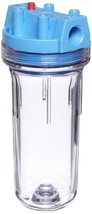 """Pentek Standard 10"""" Clear Filter Housing 150071 with 3/4"""" Ports & Mounti... - $52.97"""