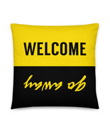 Welcome Pillow, Go Away Pillow, Funny Pillow, Funny Gift, Inspirational, Duality - £25.65 GBP - £30.06 GBP