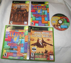 Star wars the clone wars/tetris worlds microsoft xbox 2003 u.s.a - $6.42